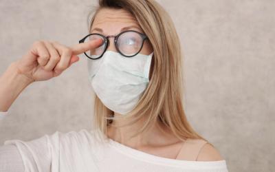 Lentes de contacto na pandemia